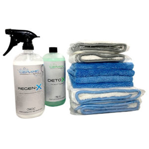 Ceramic DNA - 2 DryLux XL, 2 DryLux Regular , 32oz RegenX, and 32ox Detox, 4 Edgeless Fleece Towels